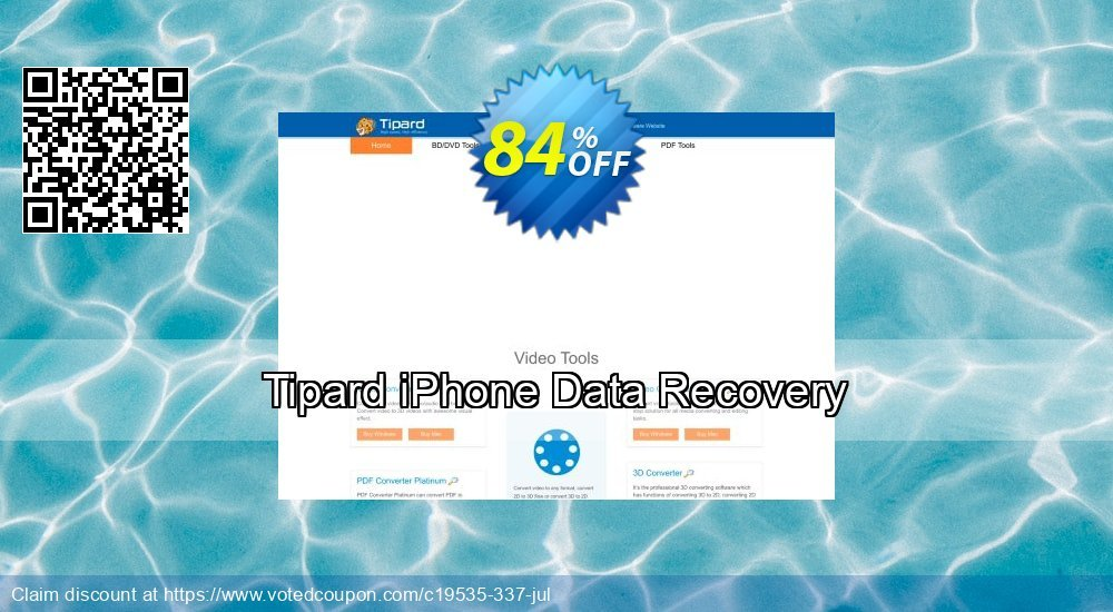 Get 40% OFF Tipard iPhone Data Recovery Coupon