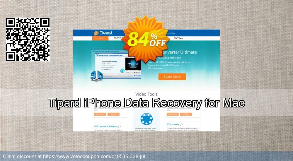 Get 40% OFF Tipard iPhone Data Recovery for Mac Coupon