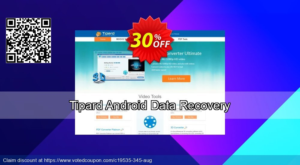 Get 30% OFF Tipard Android Data Recovery Coupon