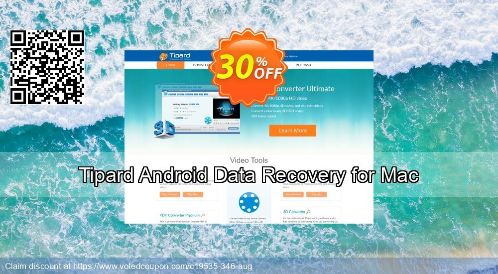 Get 30% OFF Tipard Android Data Recovery for Mac Coupon