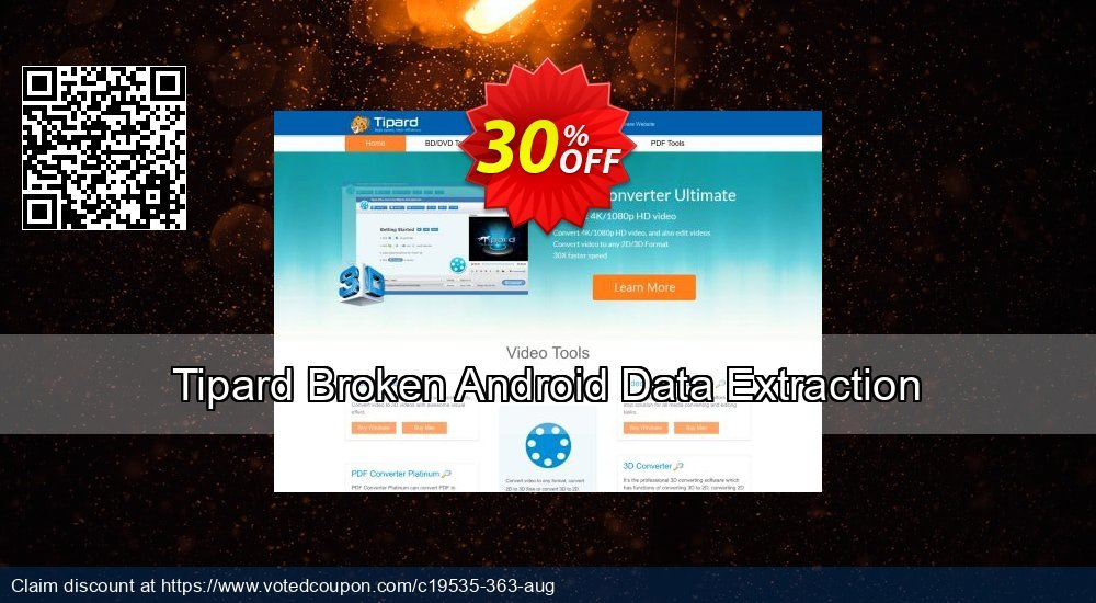 Get 32% OFF Tipard Broken Android Data Extraction Coupon
