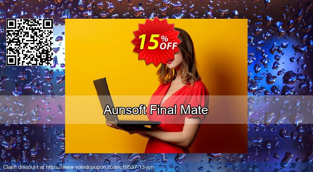 Get 15% OFF Aunsoft Final Mate offering sales
