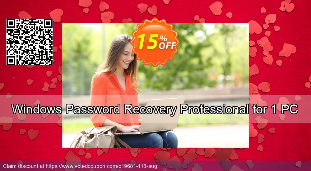 Get 15% OFF Windows Password Recovery Professional for 1 PC offering sales