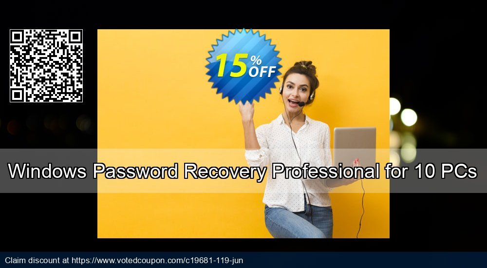 Get 16% OFF Windows Password Recovery Professional for 10 PCs Coupon