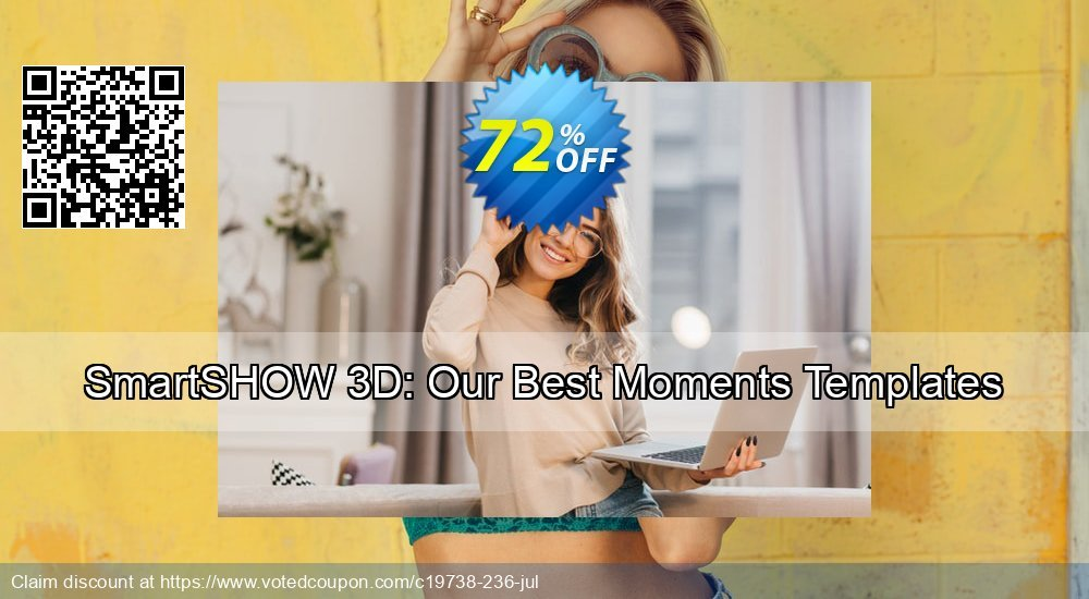 "Get 70% OFF ""Our Best Moments"" Slideshow Templates offering sales"