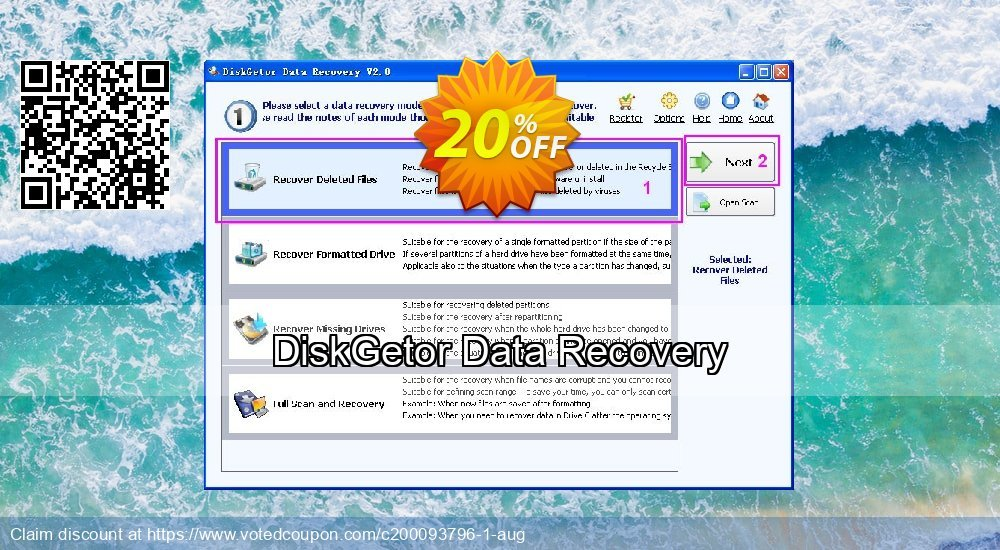 Get 20% OFF DiskGetor Data Recovery Coupon