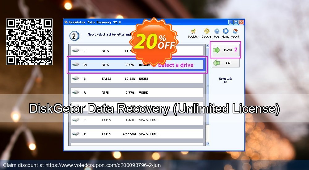 Get 20% OFF DiskGetor Data Recovery, Unlimited License Coupon