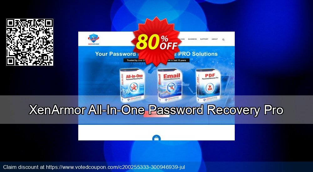Get 80% OFF XenArmor All-In-One Password Recovery Pro Personal Edition 2020 Coupon