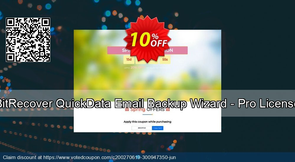 Get 10% OFF BitRecover QuickData Email Backup Wizard - Pro License Coupon