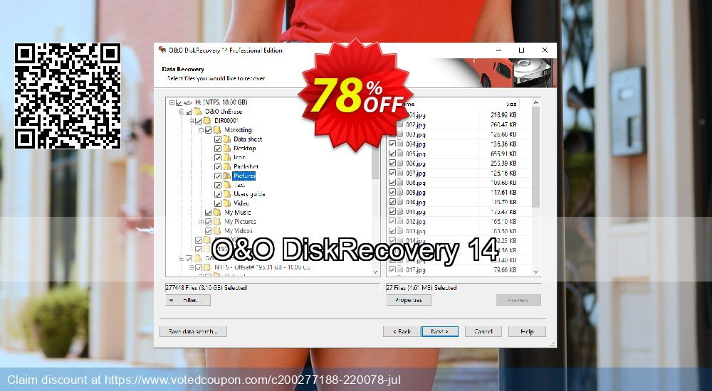 Get 60% OFF O&O DiskRecovery Professional Edition Coupon