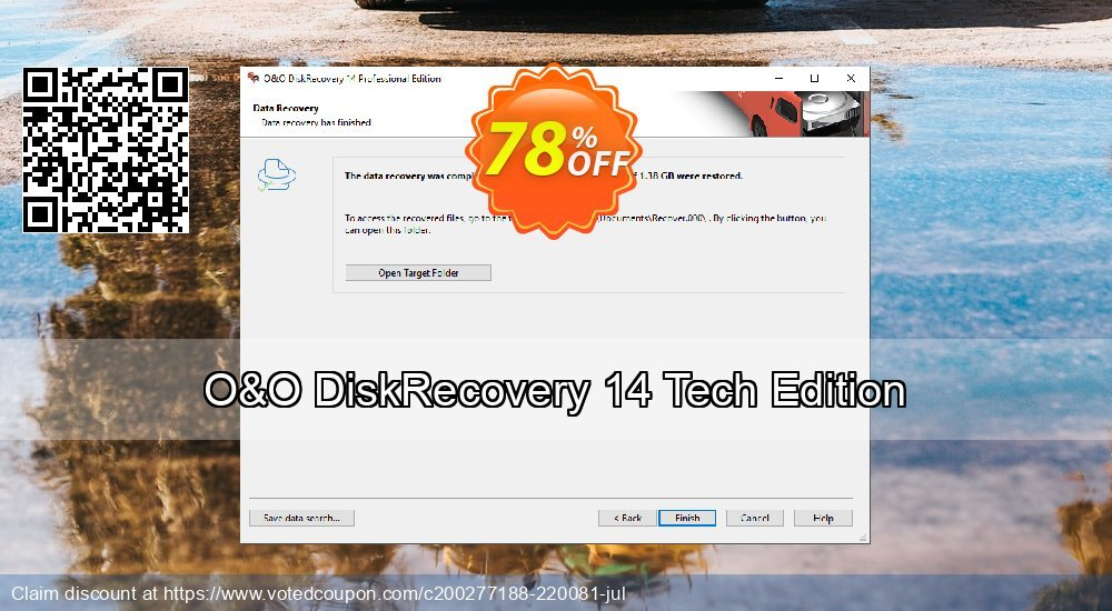 Get 50% OFF O&O DiskRecovery 14 Tech Edition Coupon