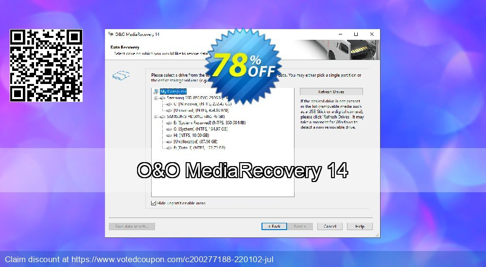 Get 51% OFF O&O MediaRecovery 14 Coupon