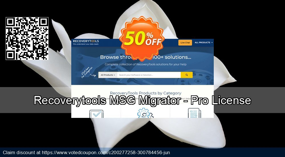 Get 50% OFF Recoverytools MSG Migrator - Pro License Coupon