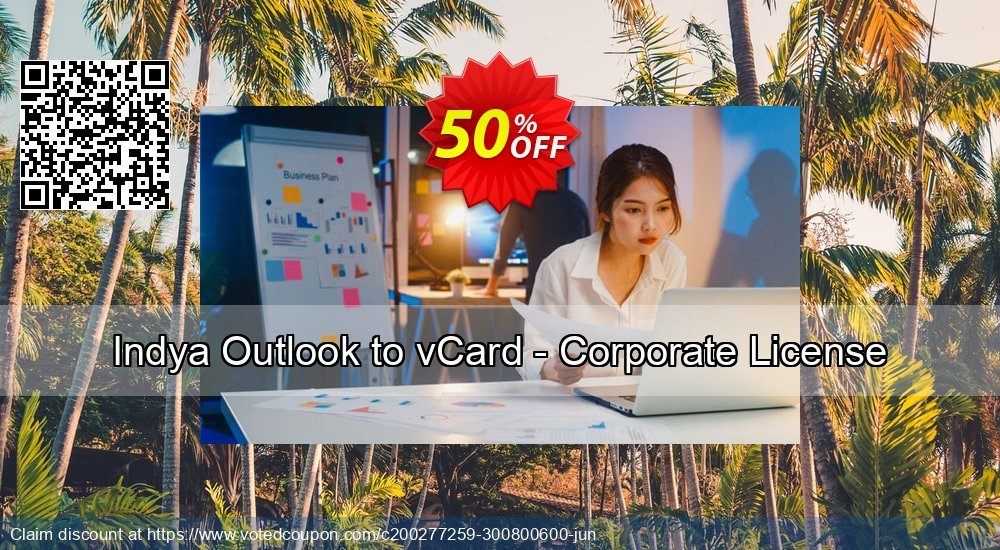 Get 50% OFF Indya Outlook to vCard - Corporate License discount