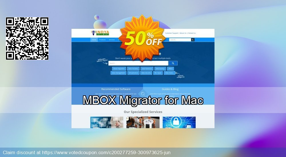 Get 50% OFF MBOX Migrator for Mac - Standard License Coupon