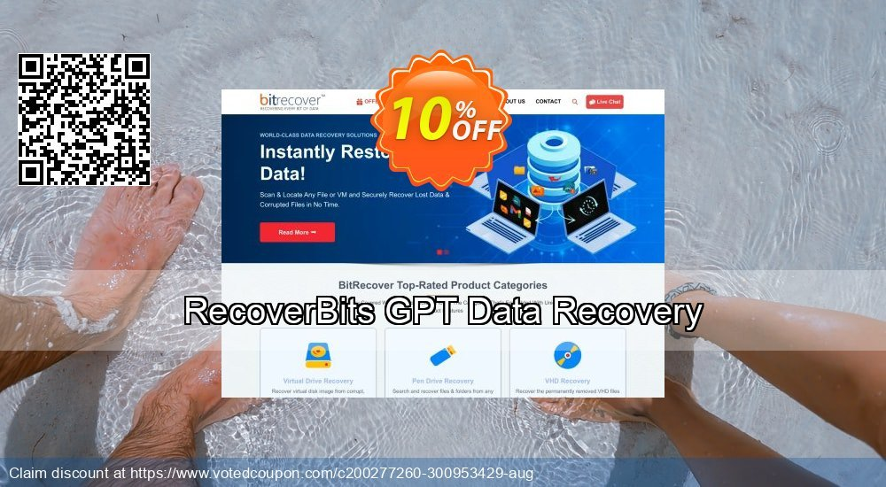 Get 10% OFF RecoverBits GPT Data Recovery Coupon