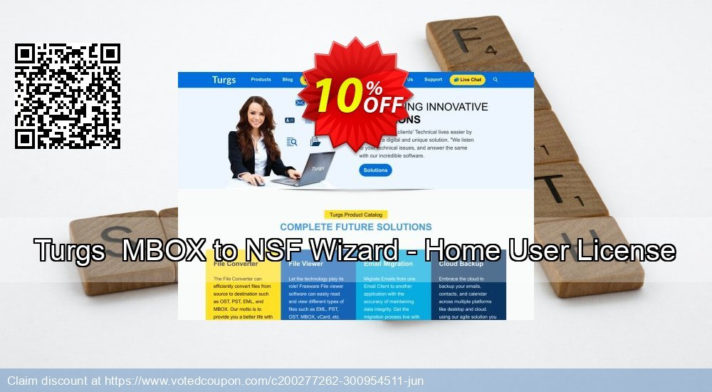 Get 10% OFF Turgs MBOX to NSF Wizard - Home User License Coupon