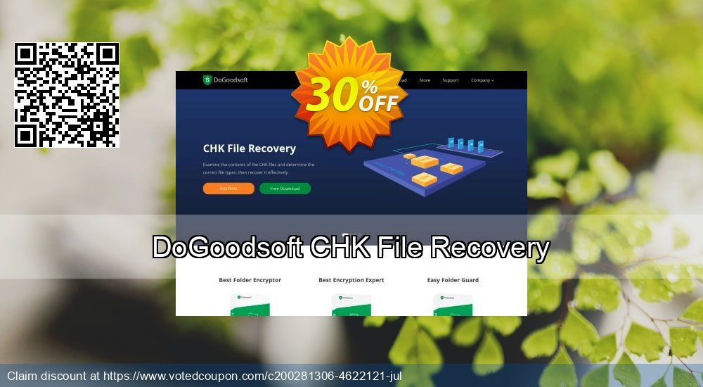 Get 24% OFF DoGoodsoft CHK File Recovery Coupon