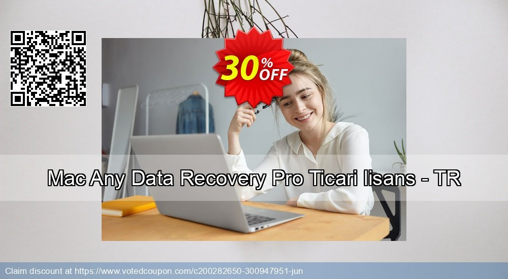 Get 30% OFF Mac Any Data Recovery Pro Ticari lisans - TR promotions