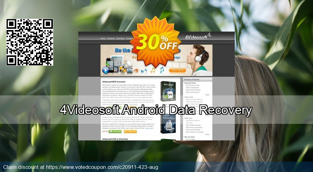 Get 30% OFF 4Videosoft Android Data Recovery Coupon