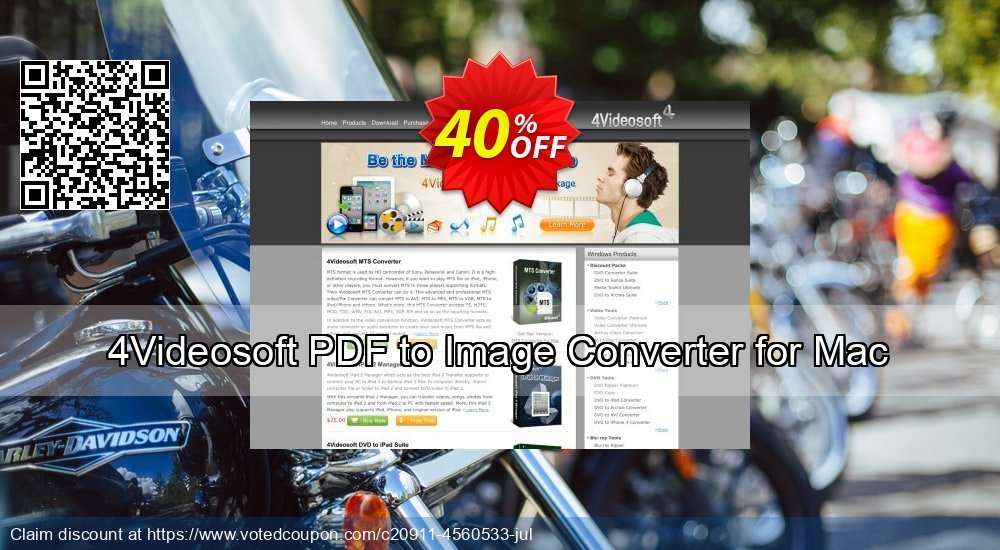Get 40% OFF 4Videosoft PDF to Image Converter for Mac discounts