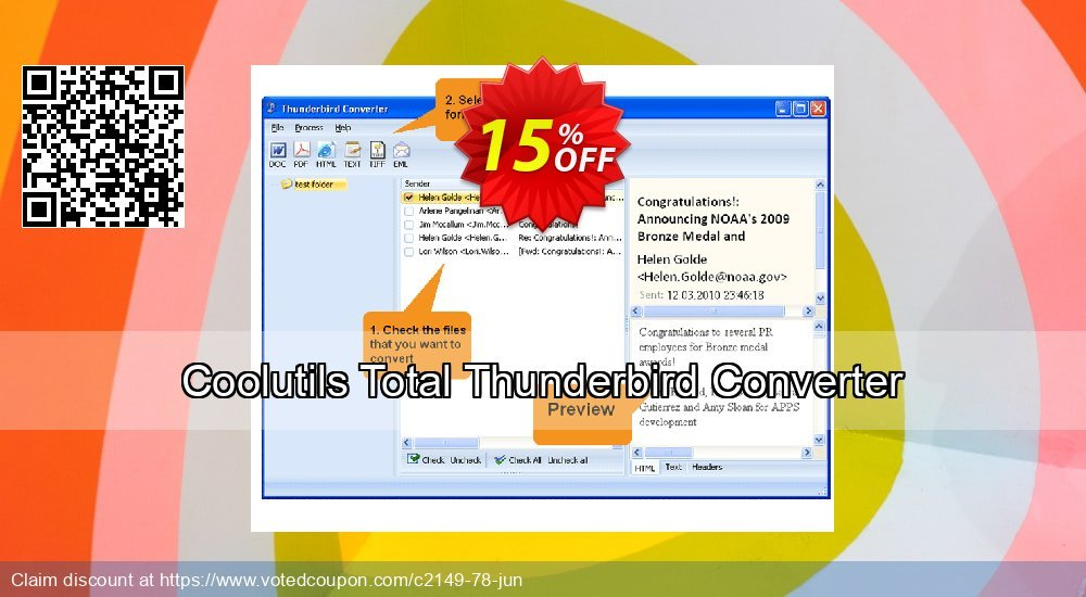 Get 30% OFF Total Thunderbird Converter promotions