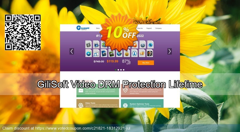 Get 10% OFF GiliSoft Video DRM Protection Lifetime offering deals