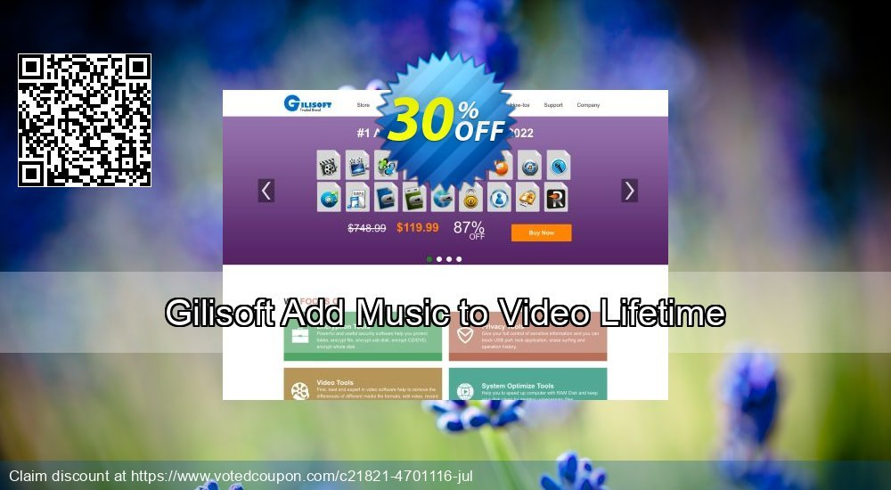Get 30% OFF Gilisoft Add Music to Video Lifetime promo