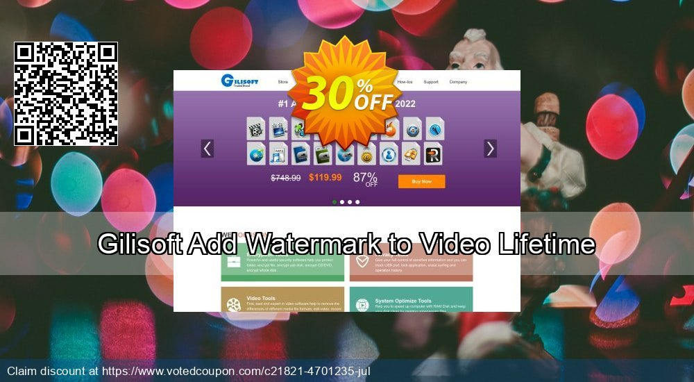 Get 30% OFF Gilisoft Add Watermark to Video Lifetime offering sales