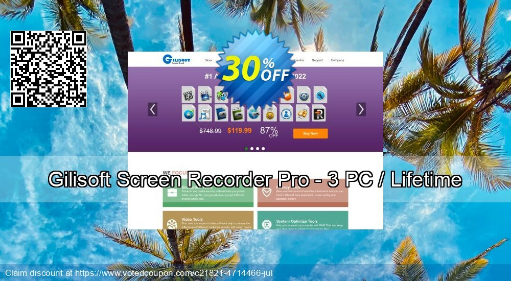 Get 30% OFF Gilisoft Screen Recorder Pro - 3 PC / Lifetime offer