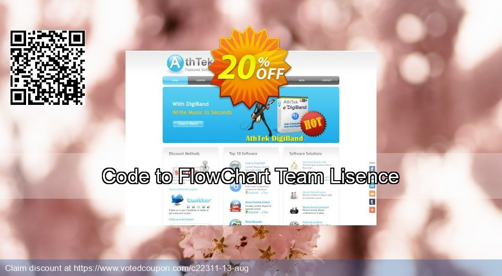 Get 20% OFF Code to FlowChart Team Lisence discount