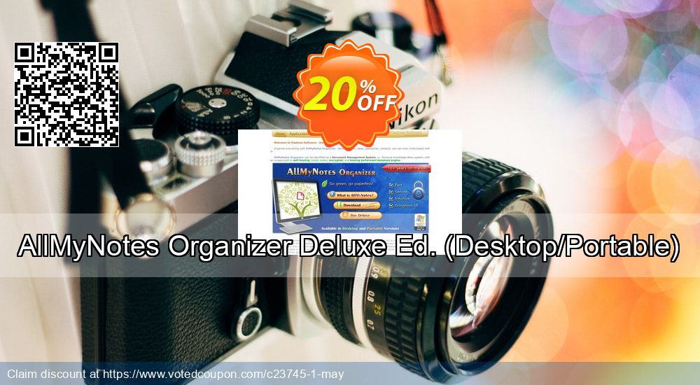 Get 20% OFF AllMyNotes Organizer Deluxe Ed. (Desktop/Portable) offering sales