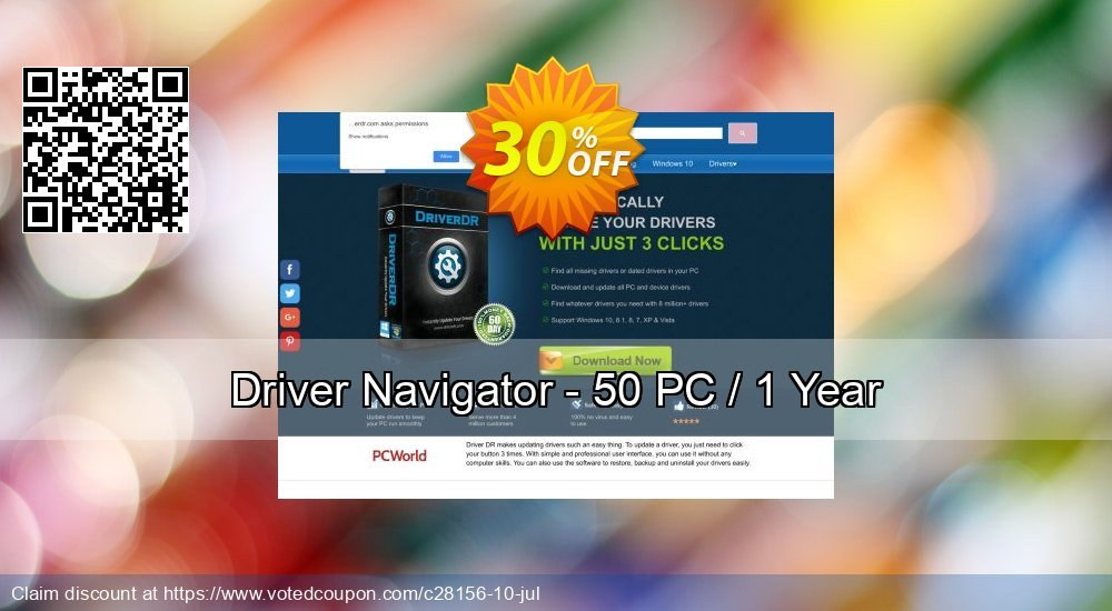 Get 82% OFF Driver Navigator - 50 PC / 1 Year offering discount