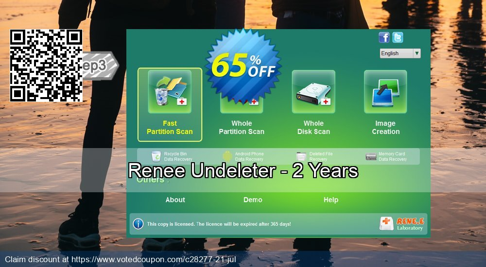 Get 65% OFF Renee Undeleter - 2 Years Coupon