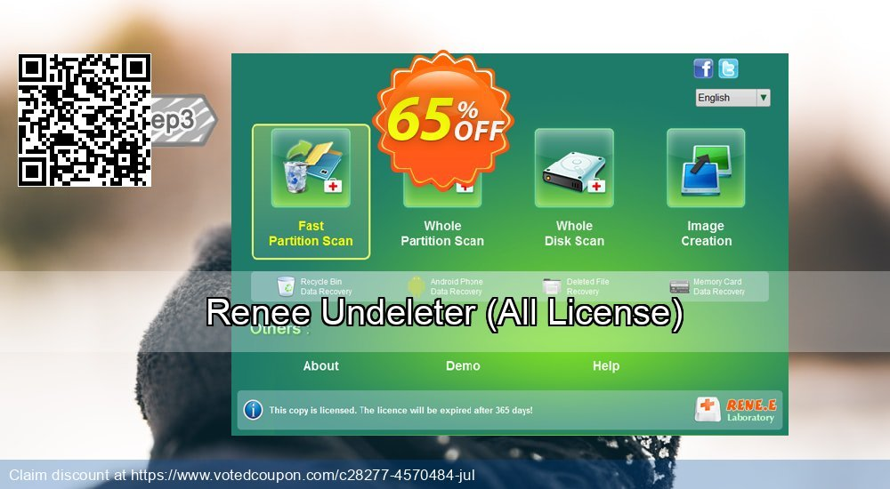 Get 66% OFF Renee Undeleter, All License Coupon
