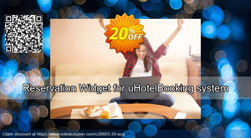 Get 20% OFF Reservation Widget for uHotelBooking system promo sales
