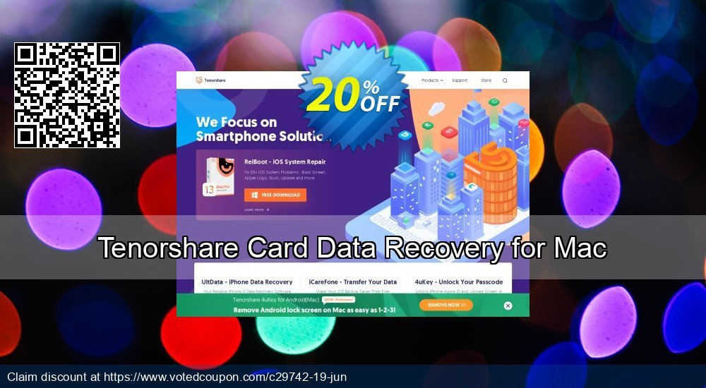 Get 22% OFF Tenorshare Card Data Recovery for Mac Coupon