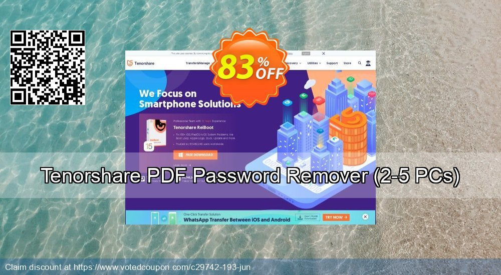 Get 83% OFF Tenorshare PDF Password Remover Coupon