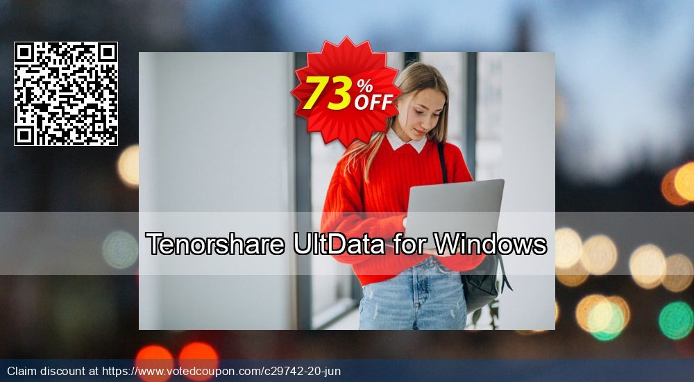 Get 74% OFF Tenorshare UltData for Windows Coupon