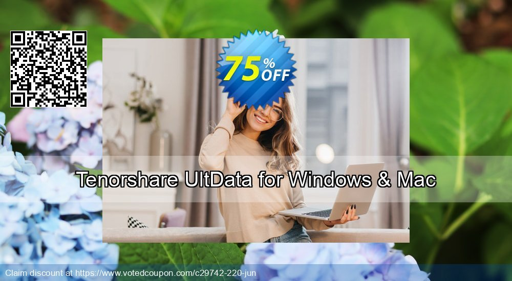 Get 67% OFF Tenorshare UltData - Windows Data Recovery Coupon