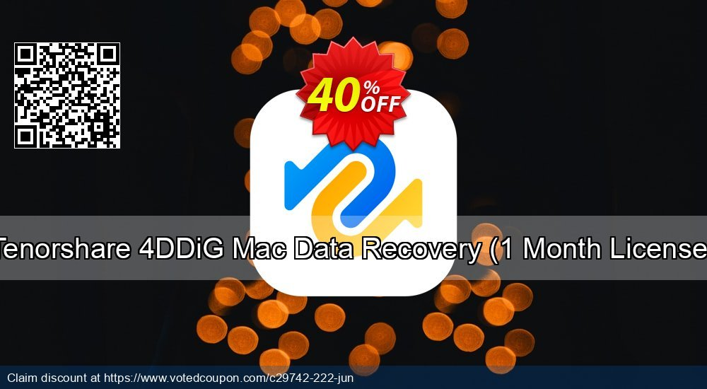 Get 30% OFF Tenorshare UltData - Mac Data Recovery (Family Pack) Coupon