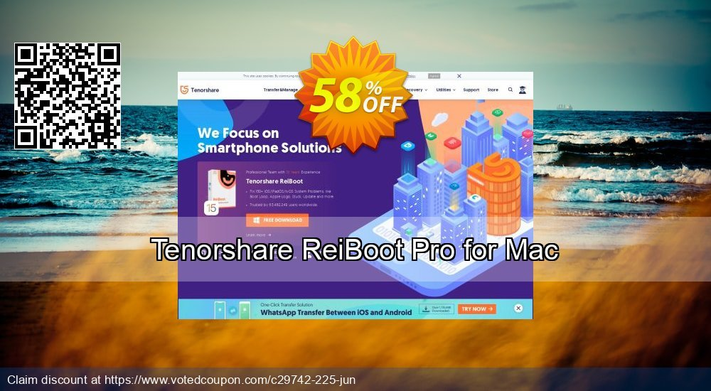 Get 58% OFF Tenorshare ReiBoot Pro for Mac Coupon