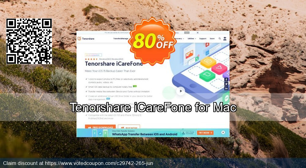 Get 10% OFF Tenorshare iCareFone for Mac offering sales