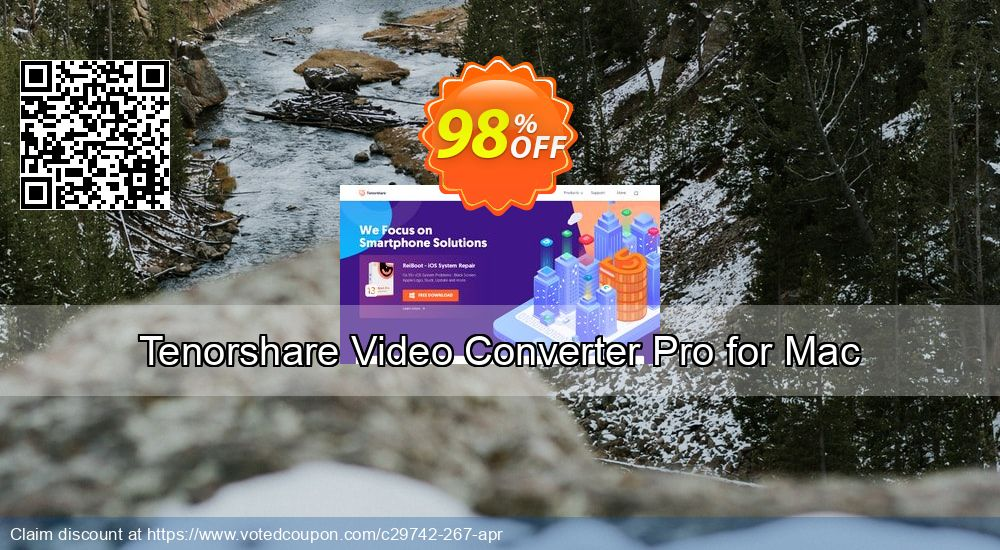 Get 98% OFF Tenorshare Video Converter Pro for Mac promotions