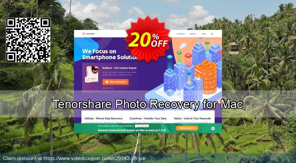Get 10% OFF Tenorshare Photo Recovery for Mac Coupon