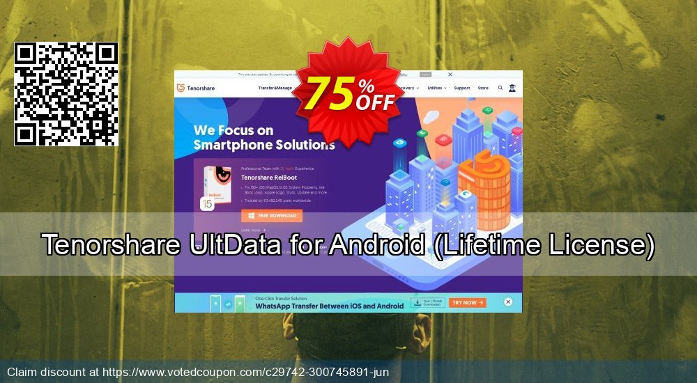 Get 75% OFF Tenorshare UltData for Android, Lifetime License Coupon