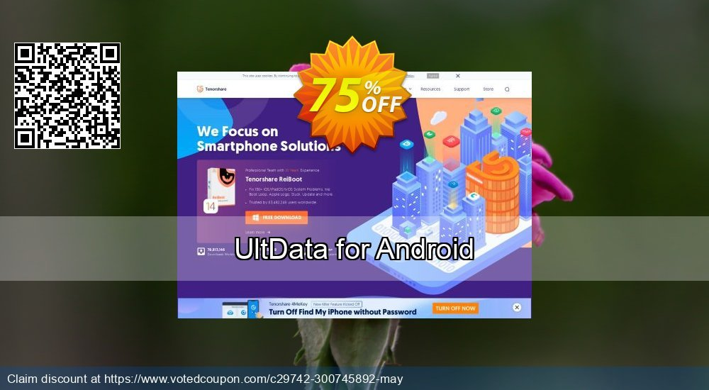 Get 75% OFF UltData for Android Coupon