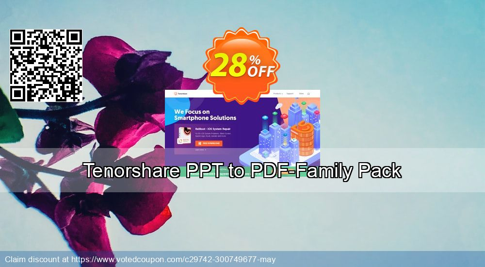 Get 20% OFF Tenorshare PPT to PDF-Family Pack promo sales
