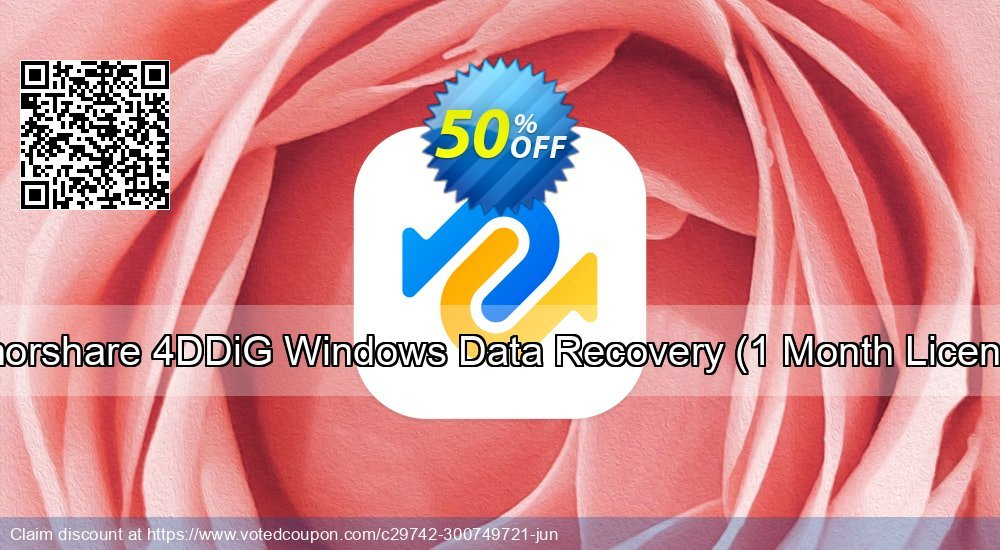 Get 51% OFF Tenorshare 4DDiG Windows Data Recovery, 1 Month License Coupon