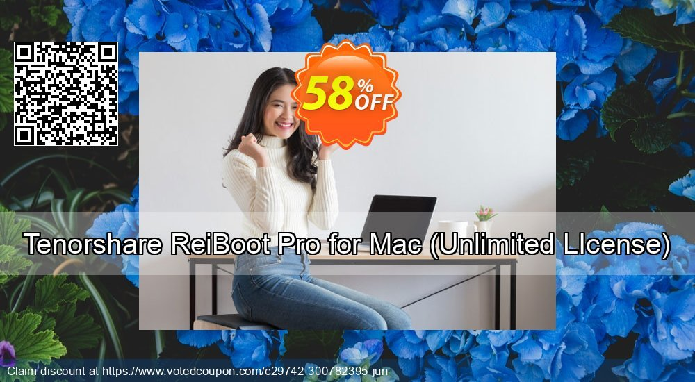 Get 58% OFF Tenorshare ReiBoot Pro for Mac, Unlimited LIcense Coupon
